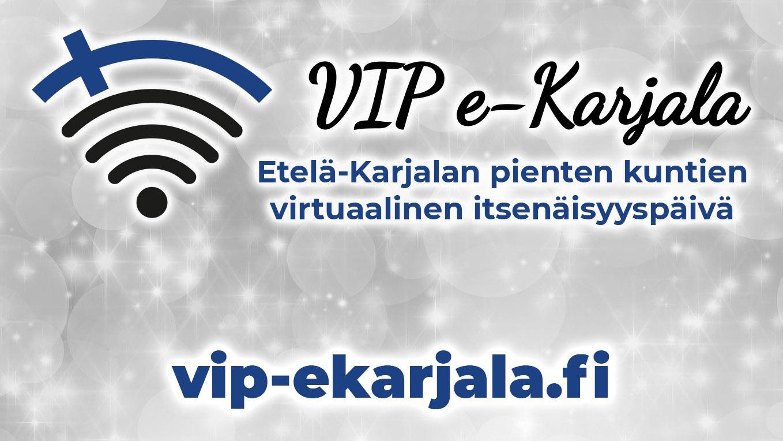 "Logo, jossa on teksti ""VIP e-Karjala""."